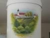 Schmuckurne Bestattunsinstitut Rose, Hohenpeißenberg Handbemalte Urne