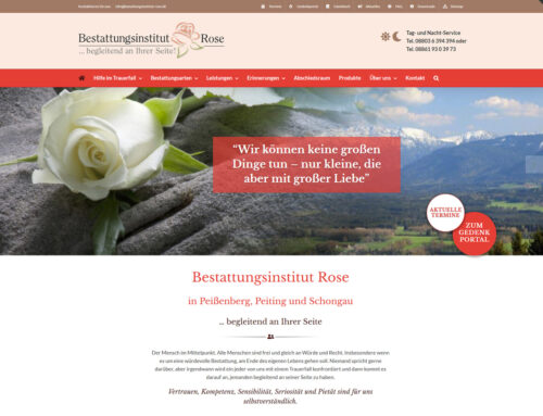 Das Bestattungsinstitut Rose hat eine neue Website!