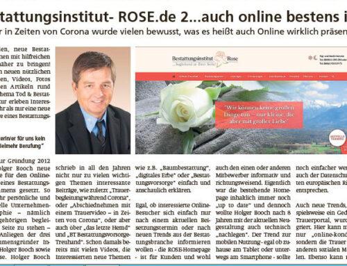 www.Bestattungsinstitut-ROSE.de 2.0… auch online bestens informiert